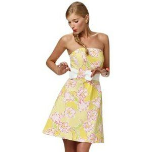 Lilly Pulitzer Strapless Dress Star Fruit Amberly